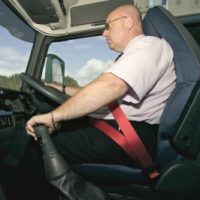 picture of a driver in cab
