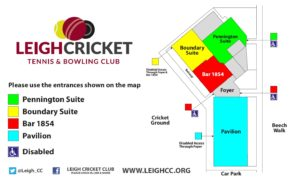 Floor plan of Leigh Cricket Club